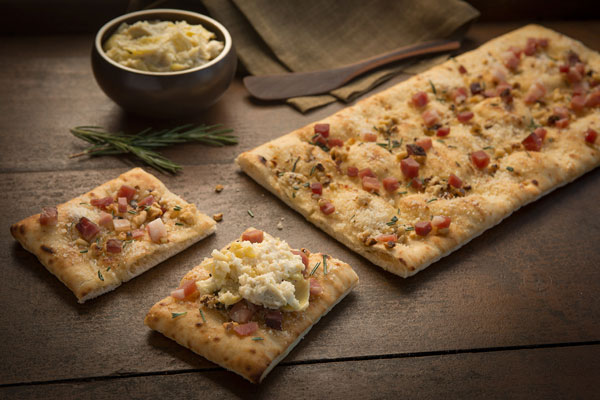 Flatbread with Walnuts and Speck