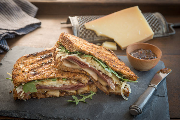 Prosciutto Pear Fig Panini