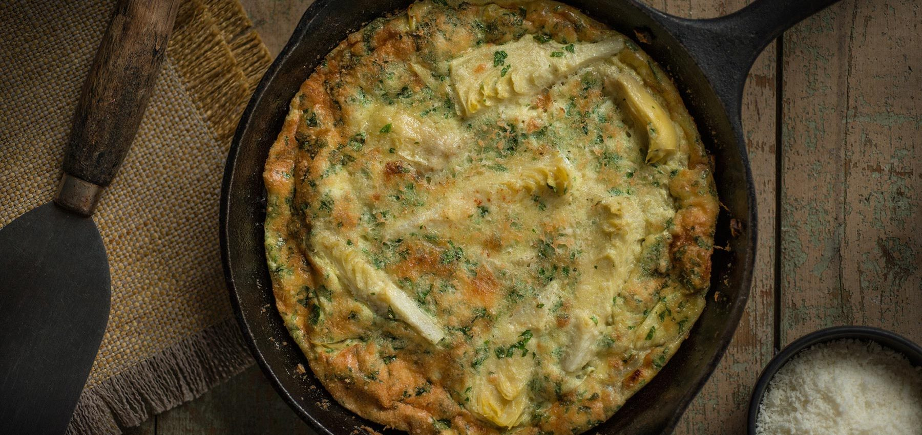 Artichoke and Pecorino Romano Frittata